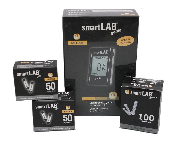 smartLAB genie Monitoreo de glucosa en sangre como Bundel | Medidor de glucosa en sangre para la diabetes | Mediciones...