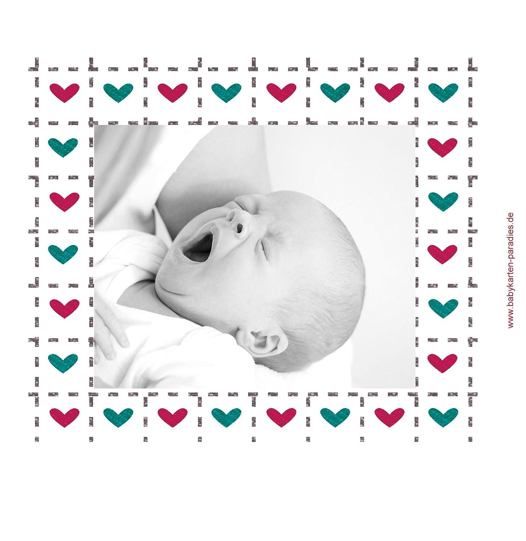 Kartenparadies Danksagung Danksagung Danksagung für Geburt Baby Dankeskarte Herzrahmen, hochwertige Danksagungskarte Baby inklusive Umschläge   10 Karten - (Format  145x145 mm) Farbe  Lila B01N6WW4B8 | Sehr gute Qualität  | Fein Verarbeitet  | Hat einen langen Ruf c0d7dc