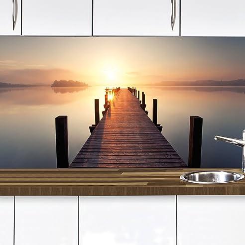 Küchennischen Deko Set Wand Küchen Spritzschutz Wandschutz