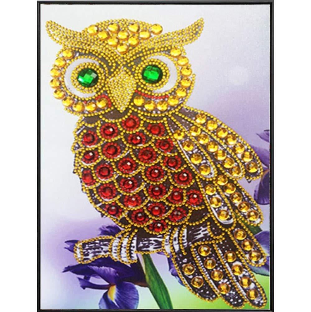 特別な形のダイヤモンド絵画 DIY 5D 部分的なドリルクロスステッチキット クリスタルラインストーン 写真 シリアルダイヤモンド刺繍アートクラフト 30X40cm マルチカラー DP001 B07H4G9HXD A