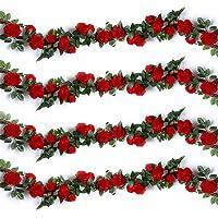 Ksnrang - Guirnalda de Rosas Artificiales de Seda