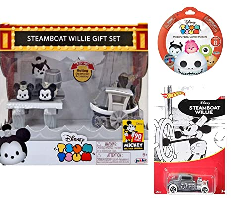 Supply Brand New In Box Tsum Tsum Mickey Steamboat Willie Set 90th Anniversary Choice Materials