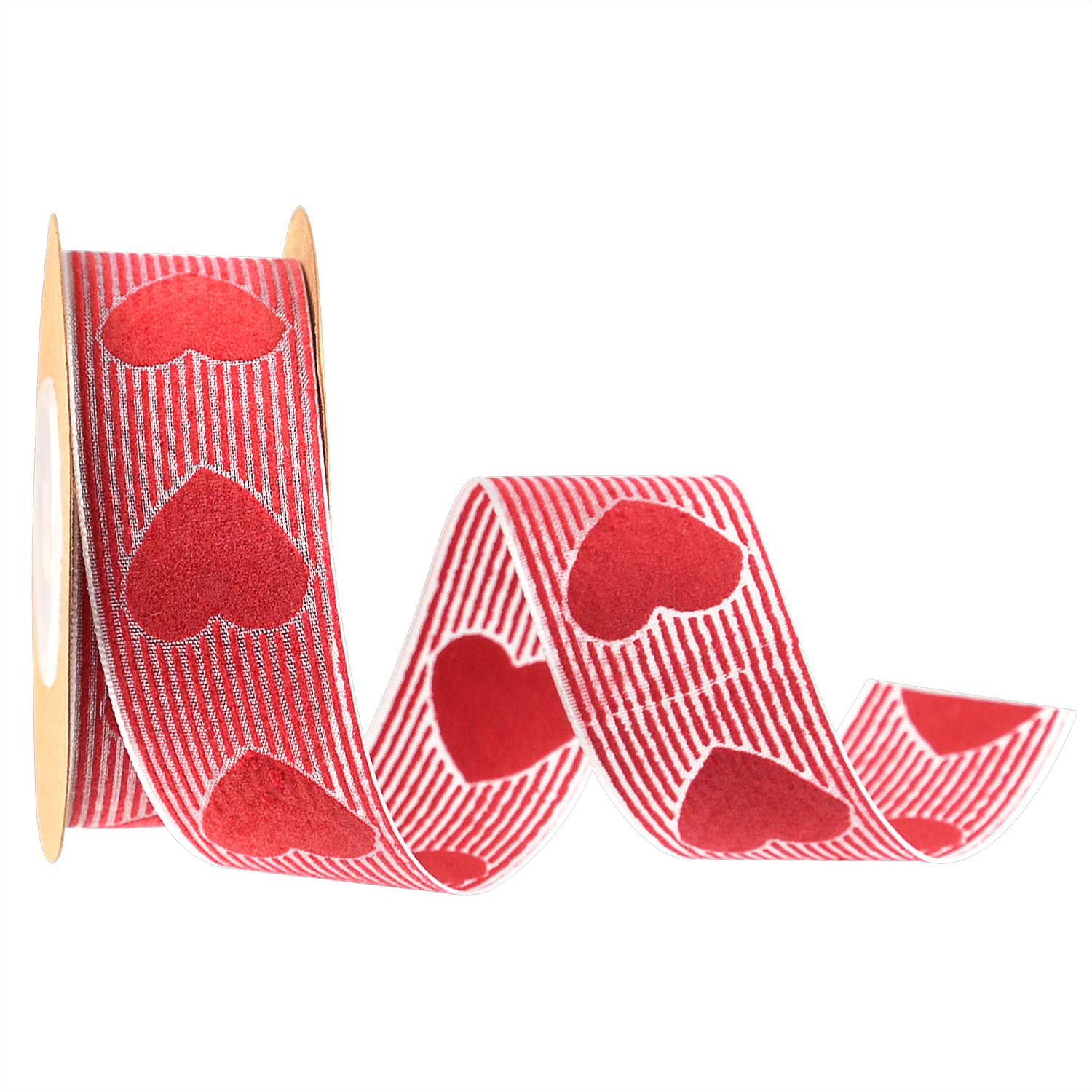 Red Valentine's Gift Heart Ribbon