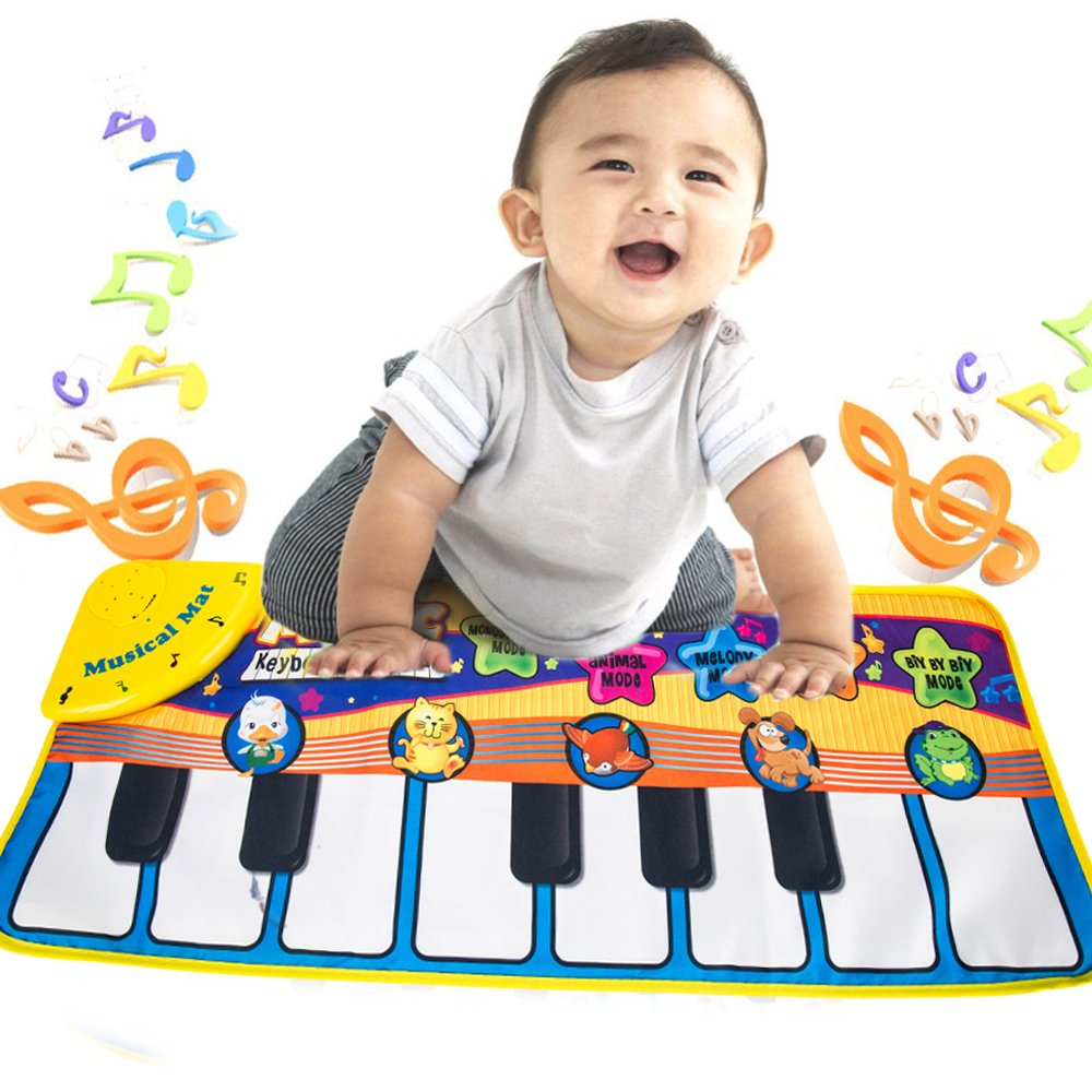 Tapis musical Piano Animal, Tapis de Jeu Musical Instrument Carpette Chant, Mat Clavier Touch Jeu Pied Gym pour enfants bebe littlegrasseu