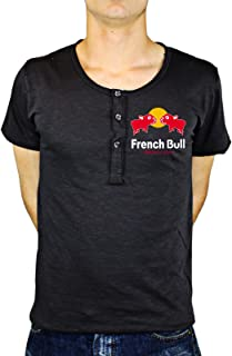 Tshirt Uomo Cotone Fiammato French Bull - Energy Dog - Humor - Tutte Le Taglie by Tshirt Uomo Cotone fiammatoeria t-shirteria