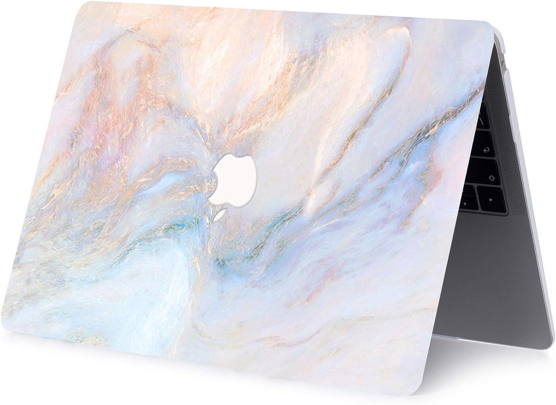 ACJYX Estuche para MacBook Air 13 Pulgadas 2020 2019 2018 Modelo De Lanzamiento A1932 A2179 Carcasa Protectora De Pl/ástico Liso Cubierta Dura para Nueva Versi/ón MacBook Air 13 M/ármol Rosa