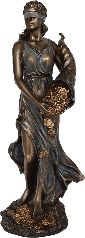 dea della Fortuna e della Fortuna Talos Artifacts in Resina di Bronzo Fuso a Freddo Statuetta di Tipo