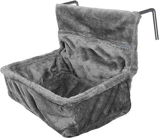 Navaris Cama para Gatos para enganchar en el radiador - Hamaca Colgante de Felpa con cojín y Marco de Metal Ajustable - Peso máximo de 6 kg - Gris: Amazon.es: Productos para mascotas