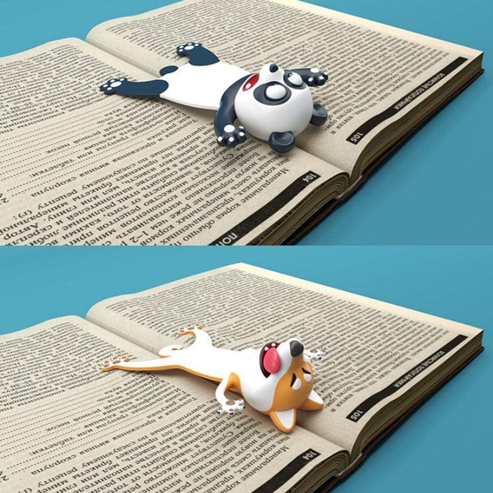 courti Marque-Page St/ér/éo 3D Aider Les Enfants /À Lire Dessin Anim/é Nouveaut/é Animal Marque-Page Original Mignon PVC F/ête Faveurs Anniversaire /Étudiants Adolescents Cadeau