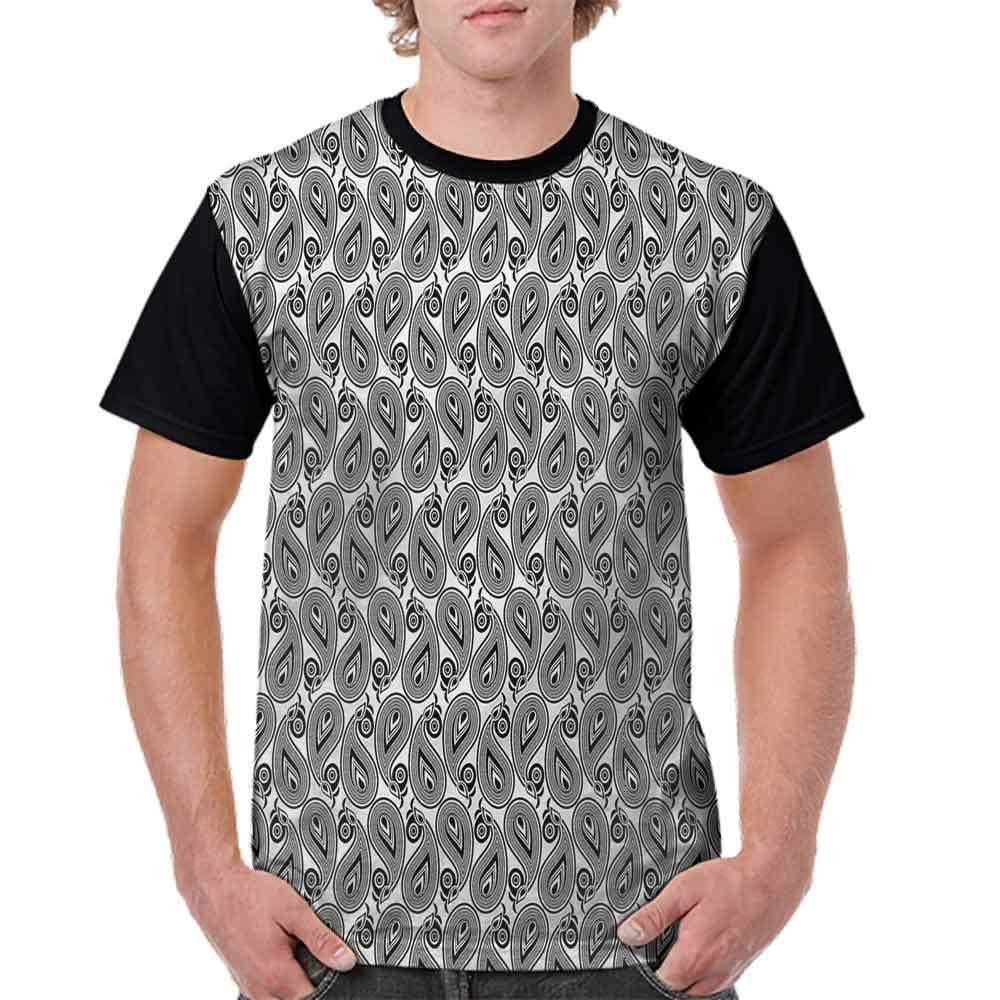 BlountDecor Loose T Shirt,Monochrome Teardrop Shape Fashion Personality Customization