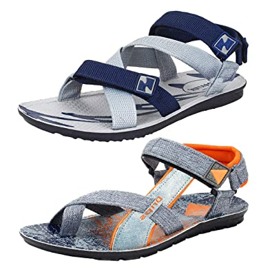 db62e11d12c4 Super Men s Casual Daily Wear Combo Pack of 2 Canvas Multi-Color Sandal    Floater  Buy Online at Low Prices in India - Amazon.in