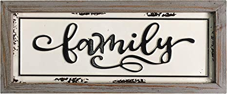 Wooden Family Sign wall art décor rustic family wood decoration rustic sign
