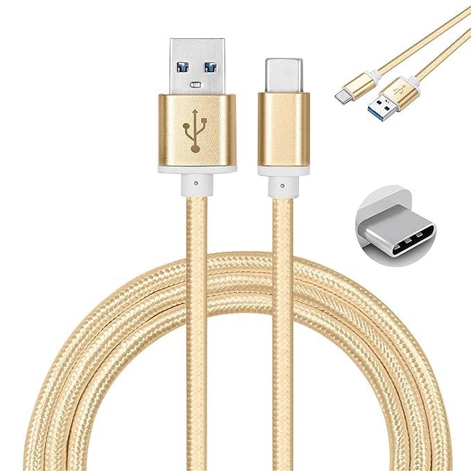 Galaxy SuperStore ZTE Nubia N1 / Z11 / Z11 MAX / Z11 Mini Cable Tipo C 1M Cargador Tipo C Trenzado de Nylon Cable USB Type C – Negro [Conectores de ...