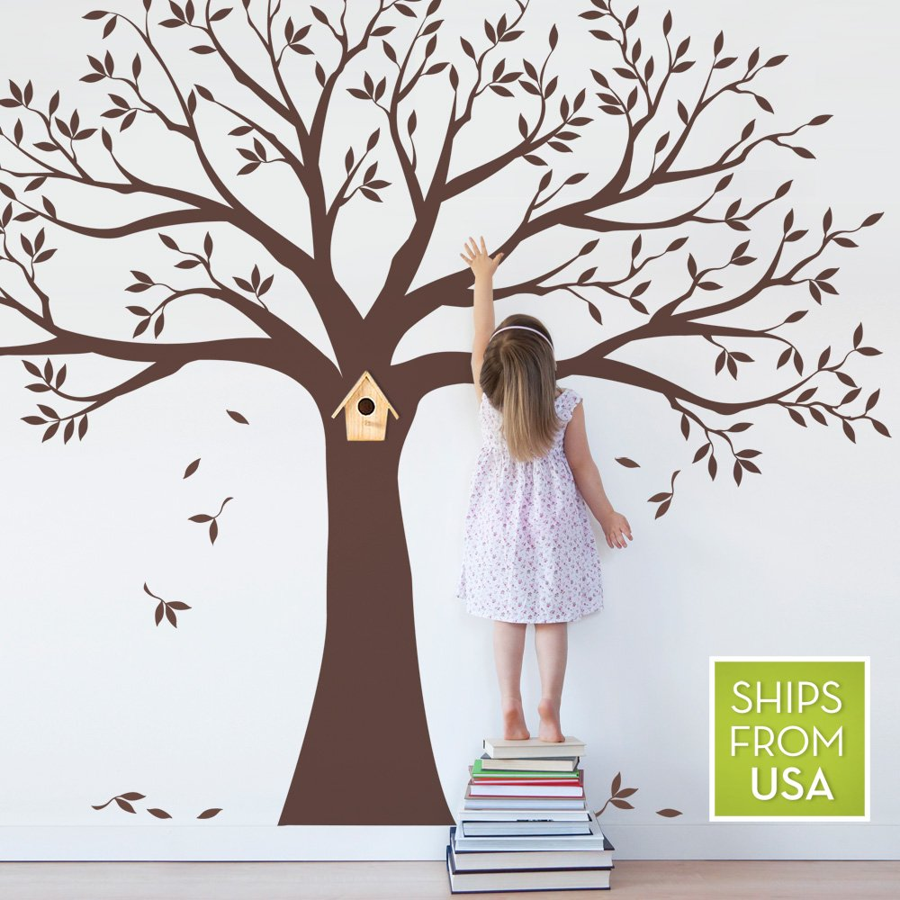 family tree wall decal by simple shapes chestnut brown standard family tree wall decal by simple shapes chestnut brown standard size 107 x 90 inch wall decor stickers amazon com