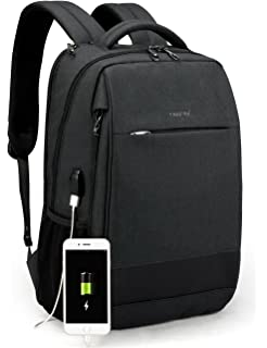 8a1d63e79361 TIGERNU Slim Laptop Backpack Anti Theft Waterproof Mochila Rucksack with  USB Charging Port Travel Business School