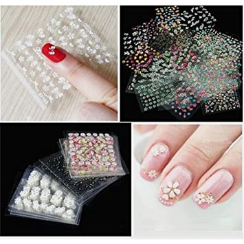 Arrord New Style 50 Sheets 3d Design Nail Art Sticker Tip Decal