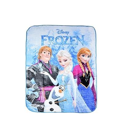 "Disney Frozen ""Frozen Fun"" Royal Plush Rushel Throw 60""x80"" Super Soft & Cozy 100% Polyester: Home & Kitchen"