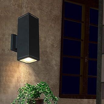 HBA Lámpara de Pared Exterior Europea Retro balcón PASILLO Pasillo Escalera Muro eólica industrial cabeza doble exterior Jardín Luces Ronda (Talla : M): Amazon.es: Iluminación