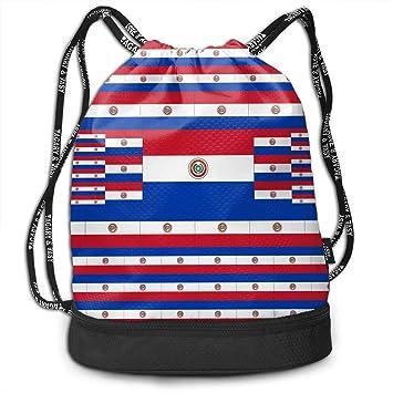 ewtretr Bolsos De Gimnasio, Drawstring Bag Paraguay Flag ...