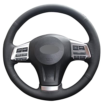 Amazon Loncky Black Genuine Leather Auto Custom Steering Wheel