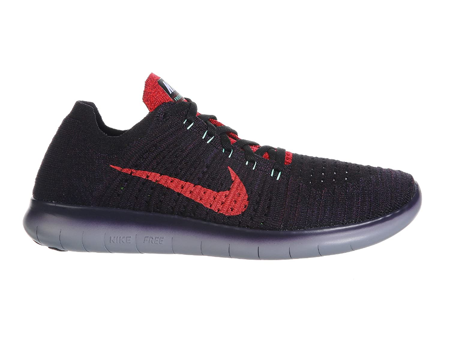 Amazon.com | Nike Mens Free RN Flyknit Night Maroon/Purple Dynasty/Green Glow Nylon Running Shoes 7.5 M US | Road Running