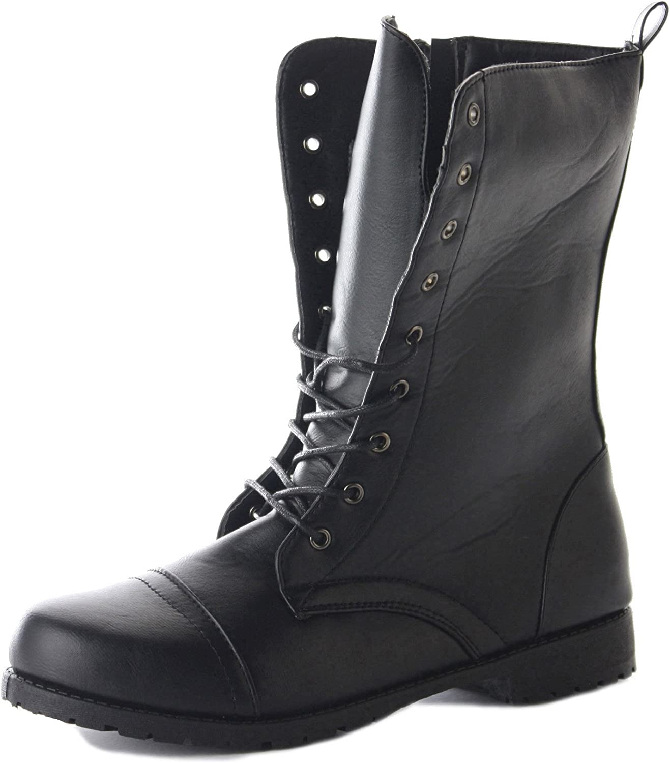 Combat Flat Military Ankle Boots Size