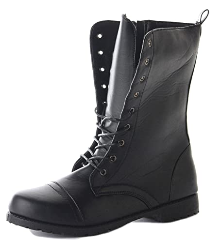 373ac7791d3 Ladies Womens Black Army Lace Up Combat Flat Military Ankle Boots Size 3-8   Amazon.co.uk  Shoes   Bags