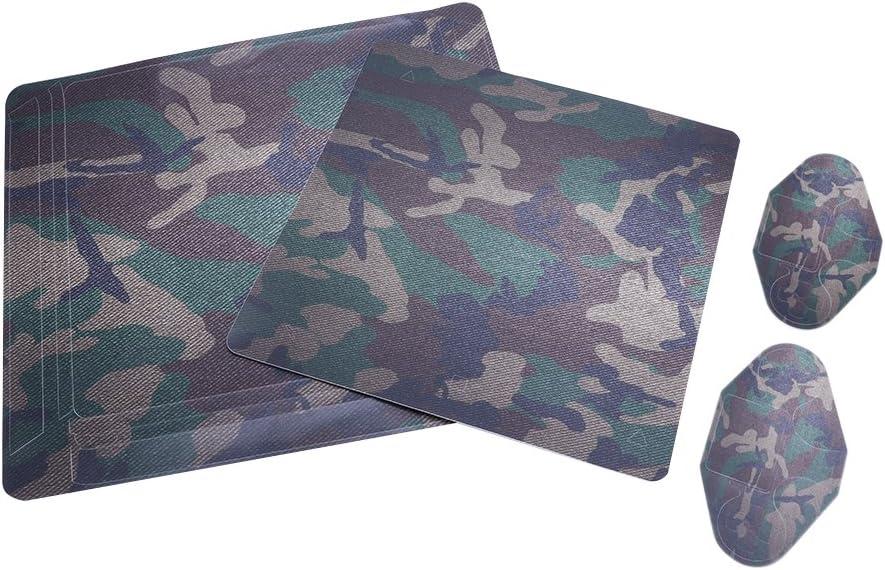 JENOR - Adhesivo de camuflaje compatible con Sony PS4 Slim Console + 2 mandos