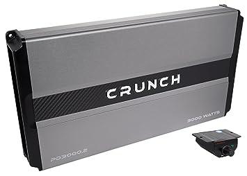 Crunch PD3000.2 Power Drive Bridgeable Amplifier Pro Power, 3,000 Watts Max, Class Ab 2-Channel