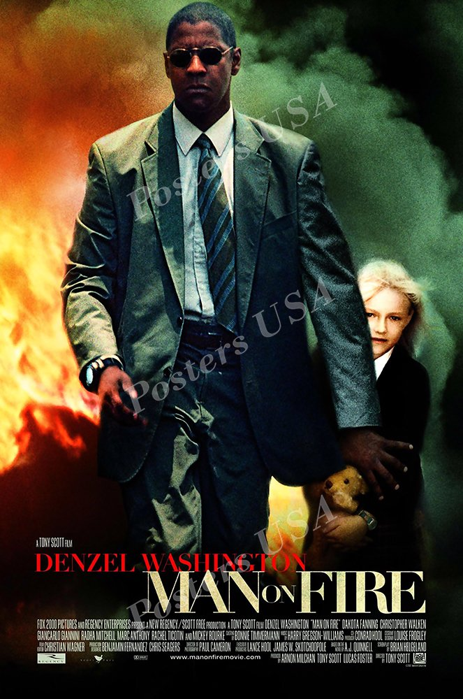 """Posters USA - Man On Fire Movie Poster GLOSSY FINISH - MOV916 (24"""" x 36"""" (61cm x 91.5cm))"""