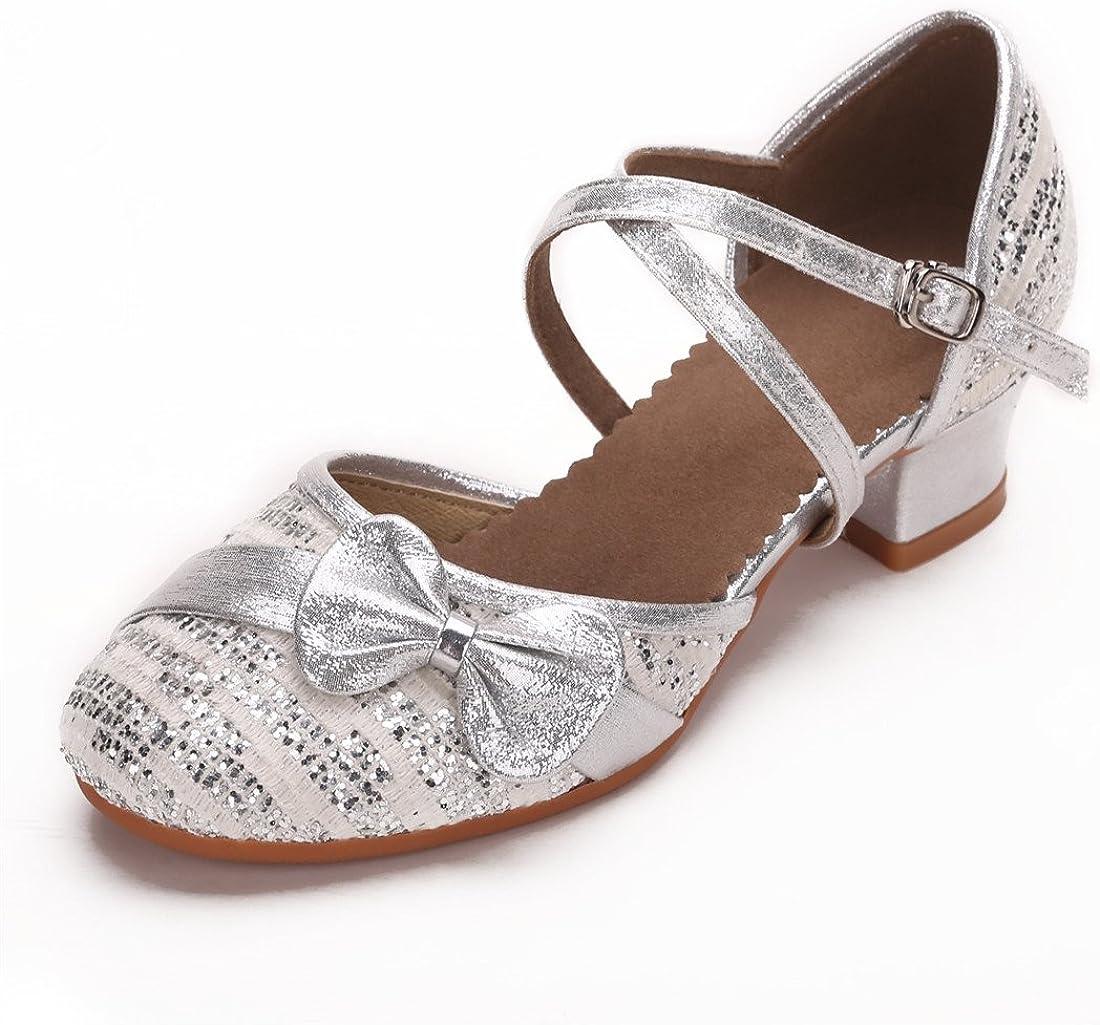 Cool/&D M/ädchen Tanzschuhe Prinzessin Schuhe Kinder Latein Schuhe mit Weiche Sohlen 28-38