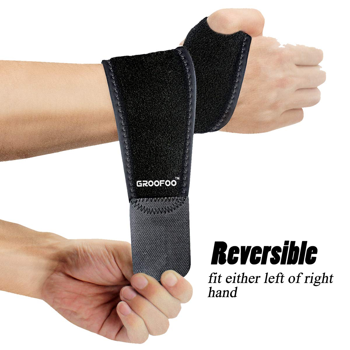 GROOFOO Adjustable Wrist Brace, Breathable Neoprene Support Wrap for Volleyball Badminton Tennis Weightlifting