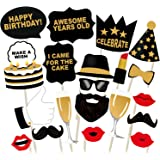 Party Propz Birthday Photo Booth Props for Birthday Party (Set of 20 Pcs)