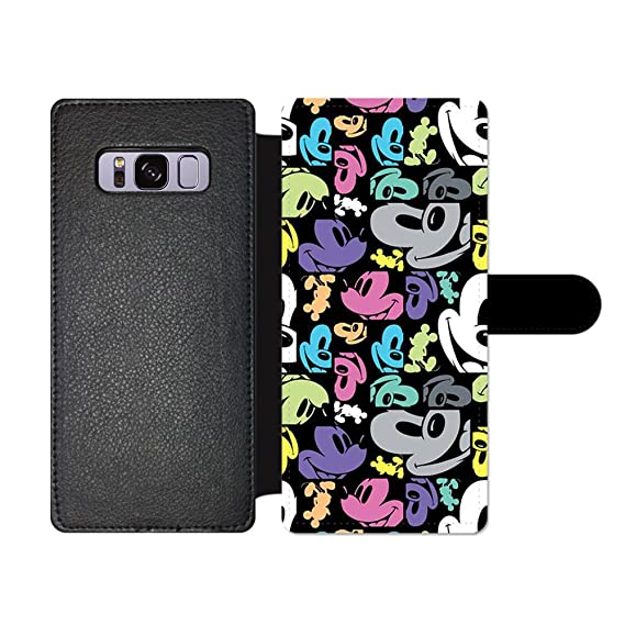 the best attitude 5a9ae 49722 GSPSTORE Samsung Galaxy S7 Edge Wallet Case,Disney Mickey Mouse and Minnie  Cute Cartoon Pattern Flip Pu Wallet Case with Card Pockets for Samsung ...