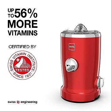 Novis Vita Juicer - Exprimidor (Metal, Rojo, Exprimidor): Amazon.es: Hogar