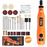 JelBo Cordless Rotary Tool Kit, Micro Variable Speed Rotary Carver Power Tools, Mini Electric Cordless Engraving Tool…