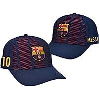 Gorra Oficial FC BARCELONA - Messi 10 + Firma - Tallaje Junior Ajustable