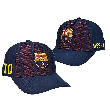 Gorra Oficial FC BARCELONA - Messi 10 + Firma - Tallaje Junior ...