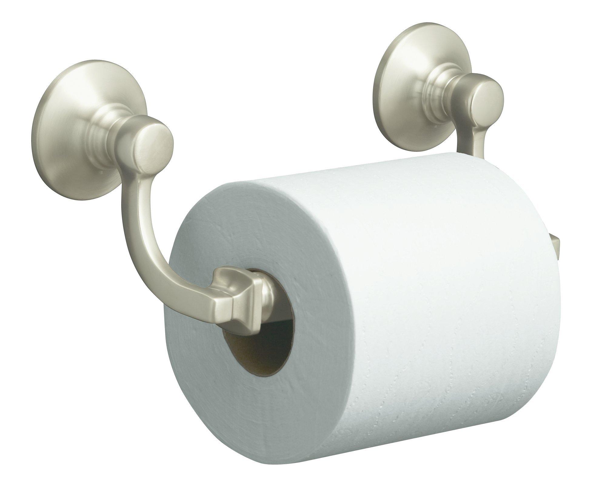 KOHLER K-11415-BN Bancroft Toilet Tissue Holder, Vibrant Brushed Nickel