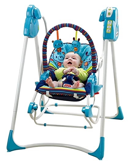 "1e7275449 Baby Gear - Columpio""Hamaca 3 en 1"", juguete con sonido (Mattel"