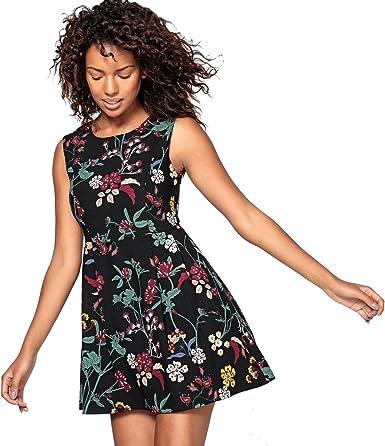 Molly Bracken S3222a17-Vestido Mujer Nero/Fantasia Fiori XL ...