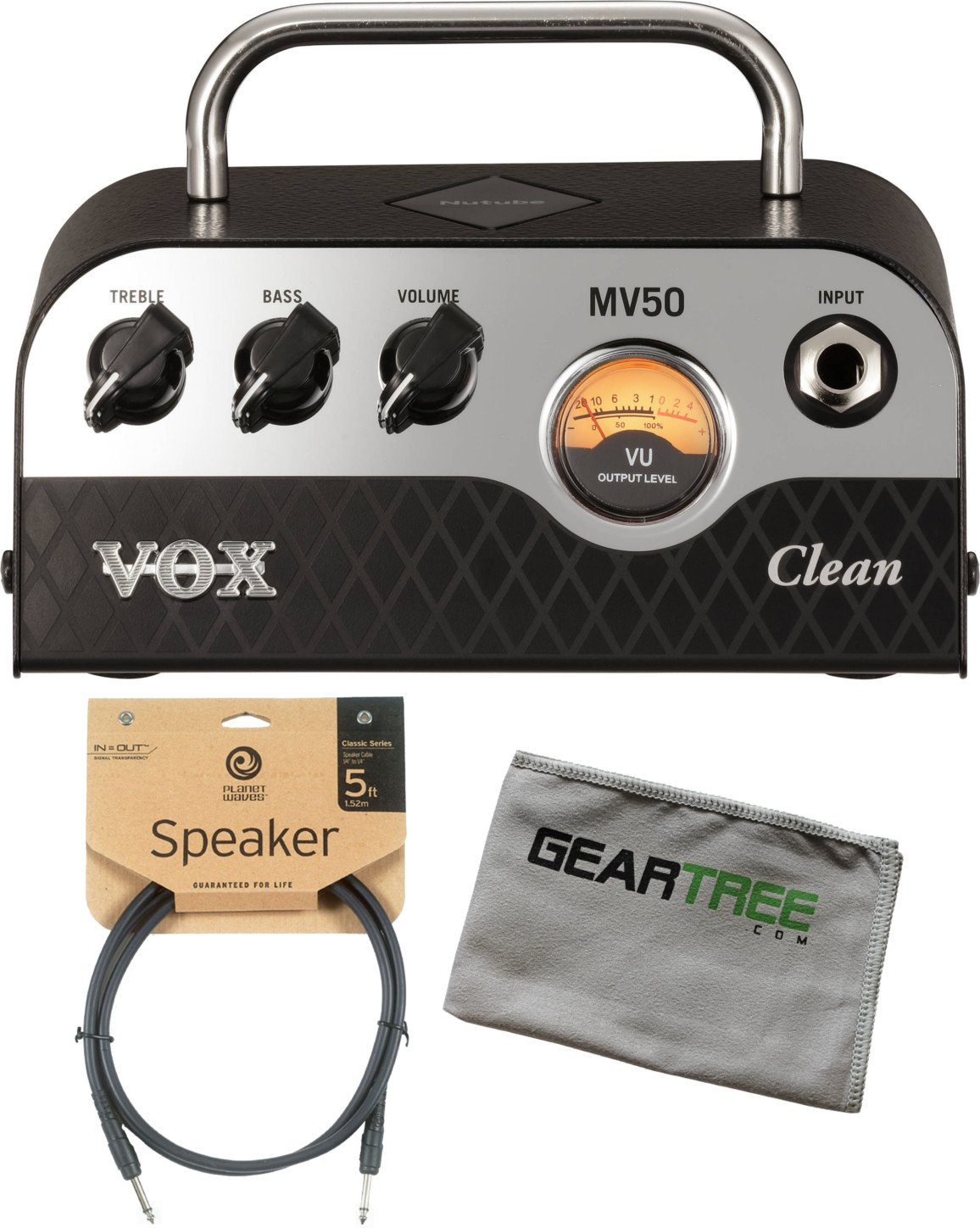 Vox MV50 50w Clean Head w/ Cleaning Cloth and Speaker Cable