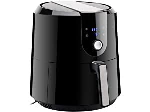 Rosewill RHAF-19001 5.8-QT XL Air Fryer with Temperature/Timer Settings and 7 Cooking Presets, 5.5-L Extra Large Capacity 1800W Oil-Less Low-Fat Air Frying