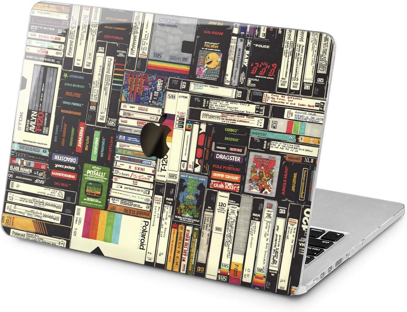 Lex Altern Hard Case for Apple MacBook Pro 15 Air 13 inch Mac Retina 12 11 2020 2019 2018 2017 2016 Woman Shell Laptop 80s Polaroid Design Protective Retro Cassette Touch Bar Pattern Videotape Girl