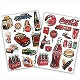 Coca-Cola-Pegatinas Prespaziato-- 10 cm, color blanco: Amazon.es: Coche y moto