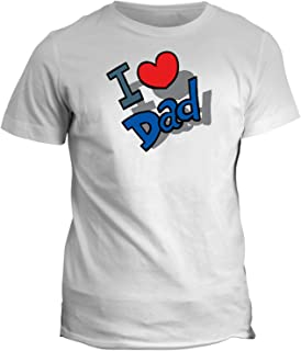 fashwork Tshirt I Love Dad - Amore - in Cotone by