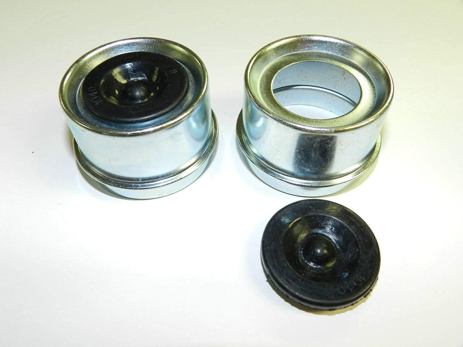 、 4 Pack ASMSD Replaces Trailer Axle Dust Cap Cup Grease Cover /& Plug RV Camper Utility 1.98