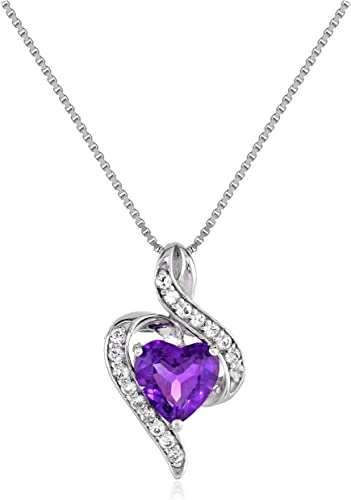 Sterling Silver Pink Sapphire Diamond Pendant Gifts for Her Gemstone Pendant Natural Sapphire Gemstone Jewelry Pave Diamond Pendant