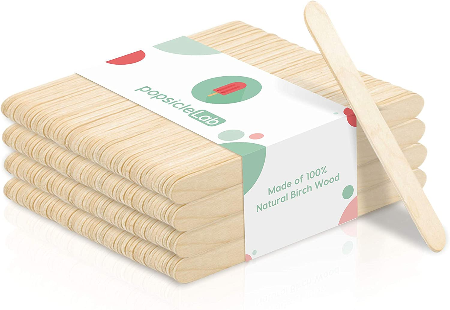 PopsicleLab Popsicle Sticks (200 Pieces / 4.5