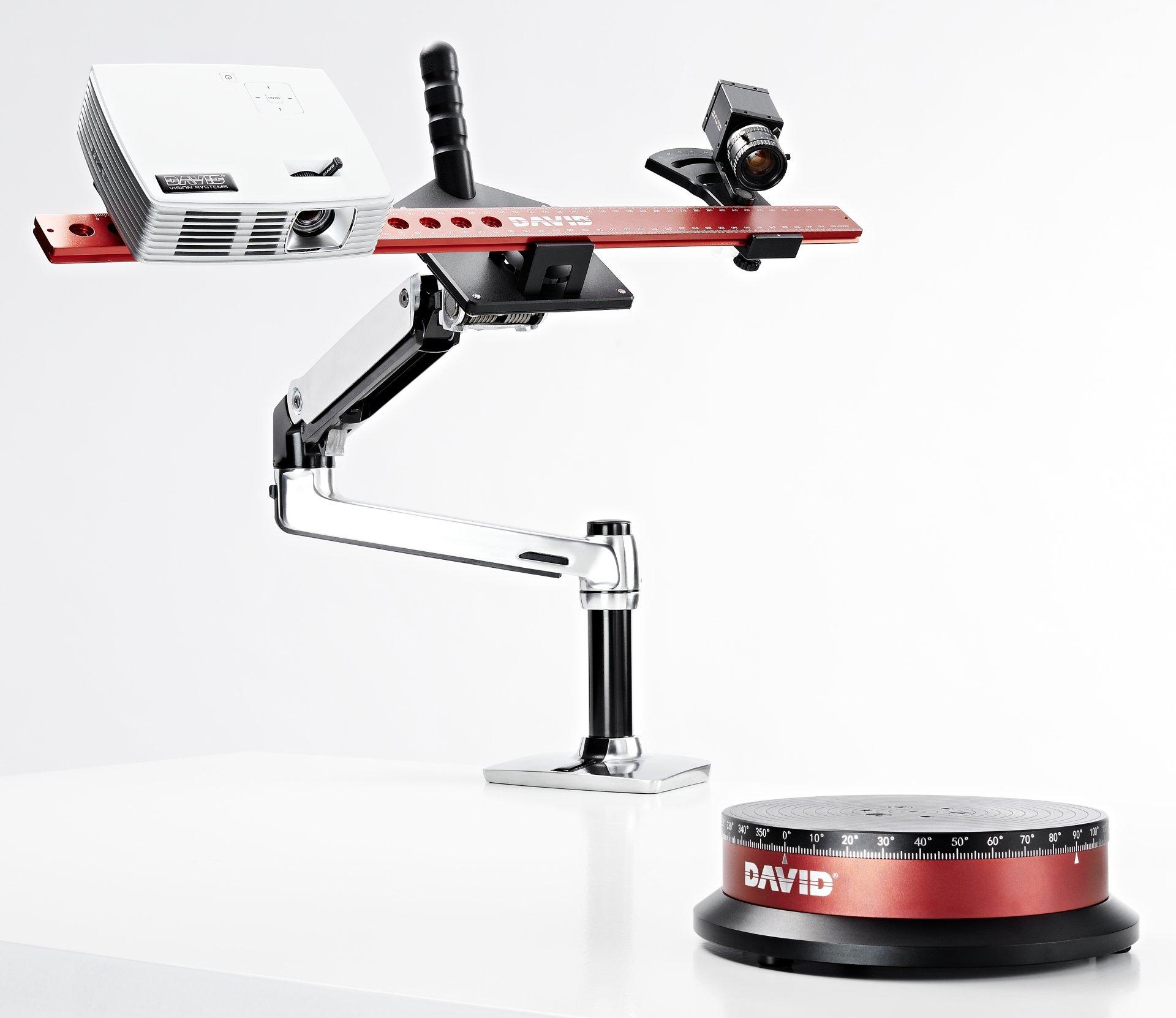 DAVID Vision Systems Bundle SLS-3 3D Scanner, TT-1 Automatic Turntable and DSL-1 Desk Scan Lever